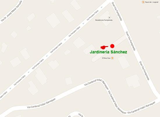 plano-mapa-ubicacion-garden-centro-jardineria-sanchez-barcelona